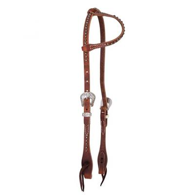 Rosewood Dotted Single Ear Headstall