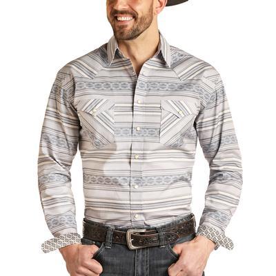Panhandle Men's Horizontal Aztec Snap Shirt