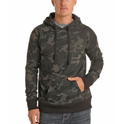 Panhandle Men's Camo Printed Hooded Jacket