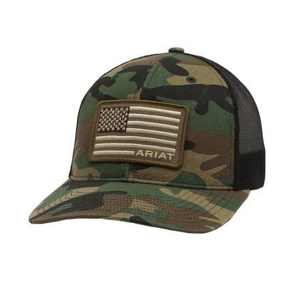 Ariat Men's Camo Flag Patch Cap