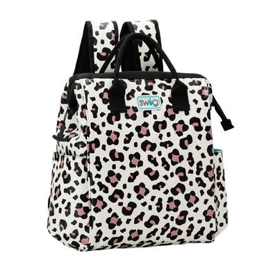Swig Luxy Leopard Print Backpack Cooler