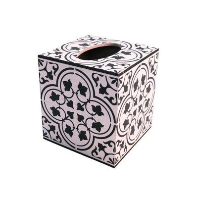 Black and White Decorative Tissue Box
