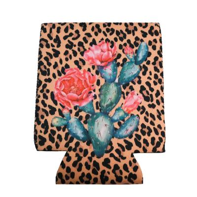 Leopard Cactus Drink Sleeve