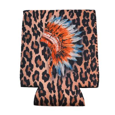 Cheetah Headdress Drink Sleeve