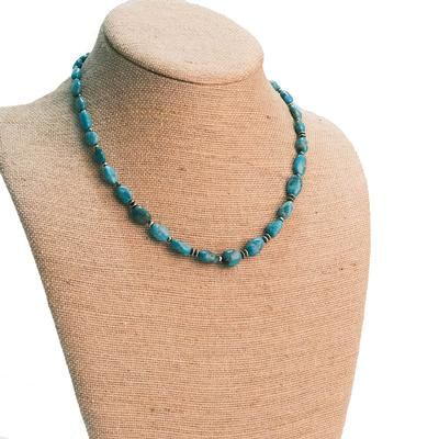 Women's 20 Inch Turquoise Stone Necklace