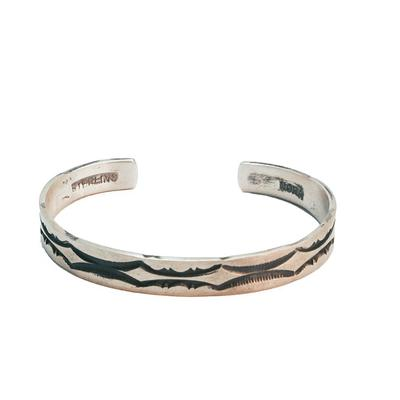 Women's Sterling Silver Engraved Cuff
