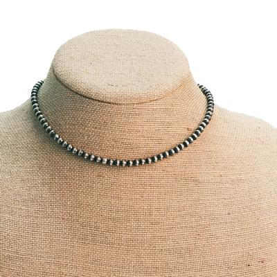 Women's 16 Inch Sterling Silver Pearl Necklace