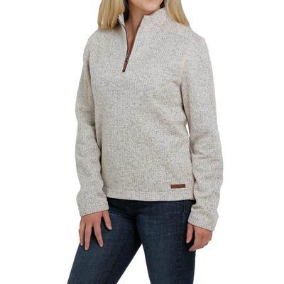Cinch Women's Cream Half Zip Jacket