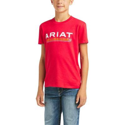 Ariat Boy's Red Branded Logo T-Shirt