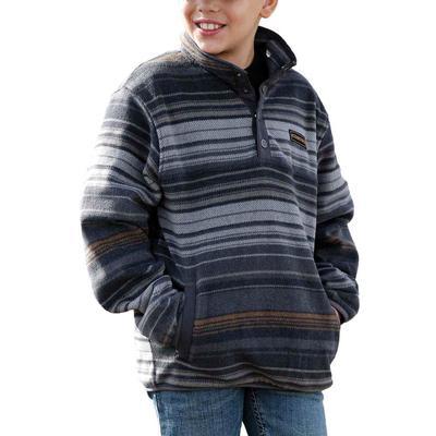 Cinch Boy's Charcoal Polar Fleece Jacket
