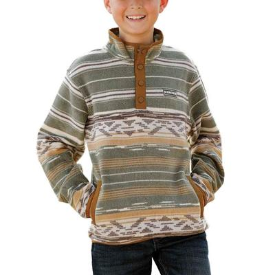 Cinch Boy's Olive Polar Fleece Jacket
