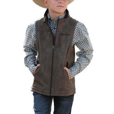 Cinch Boy's Brown Bonded Vest