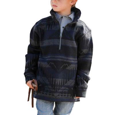 Cinch Boy's Blue Half Zip Jacket