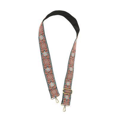 Women's Star Medallion Coral Embroidered Handbag Guitar Strap