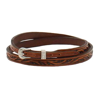 M&F Western Youth 1/4-3/8 Floral Tooled Hatband