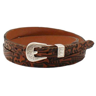 M&F Western Youth 3/8-1/2 Brown Tooled Hatband