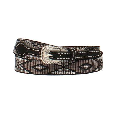 M& Western Youth 3/4-3/8 Black Ribbon Diamond Hatband