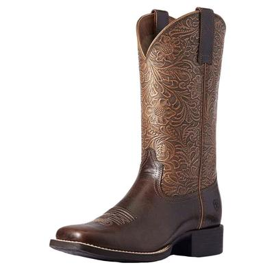Ariat Women's Embossed Round Up Western Boots