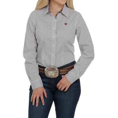 Cinch Women's Diamond Print Button Down Shirt