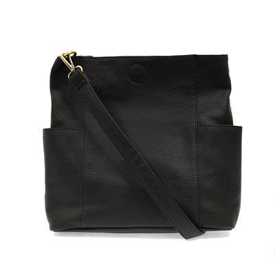 Kayleigh Black Side Pocket Bucket Bag
