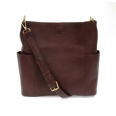 Kayleigh Oxblood Side Pocket Bucket Bag