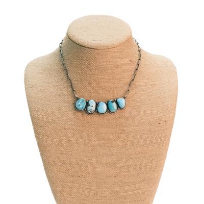 Women's Kingman Turquoise 5 Stone Necklace