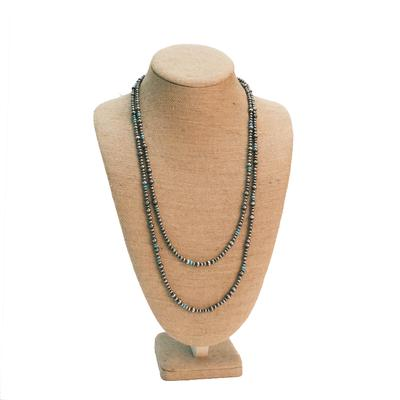 Women's Sterling Silver and Turquoise Variation Necklace