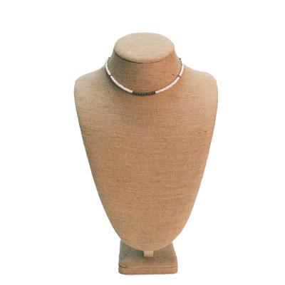 Woman's 16 Inch Sterling Silver and White Stone Necklace