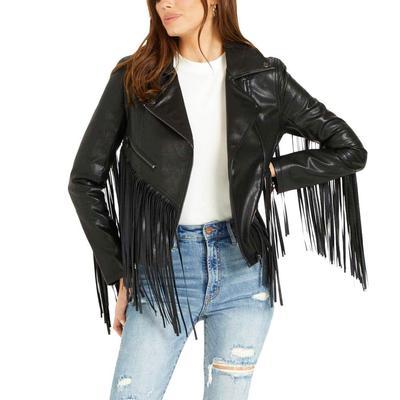 Dear John Women's Talin Leather Fringe Jacket