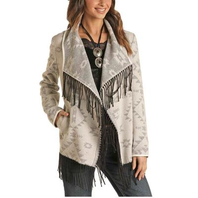 Panhandle Women's Jacquard Aztec Wool Jacket