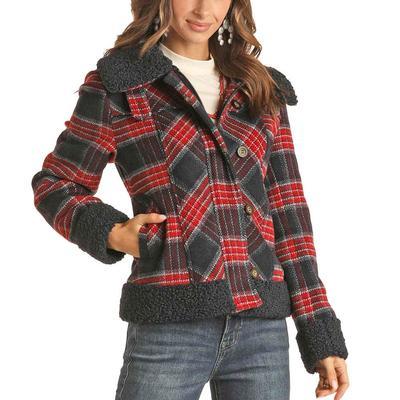 Panhandle Women's Plaid Wool Coat