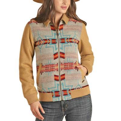 Panhandle Women's Jacquard Wool Bomber Coat