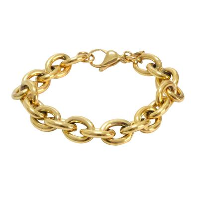 Rustic Cuff Women's Gold Chain Link Bracelet