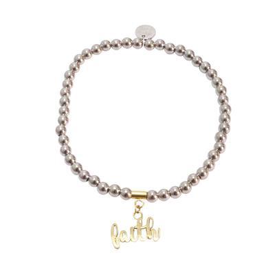Rustic Cuff Women's Faith Beaded Bracelet