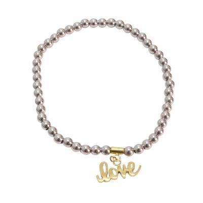 Rustic Cuff Women's Love Beaded Bracelet