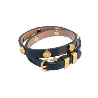 Rustic Cuff Women's Emerald and Gold Macy Bracelet