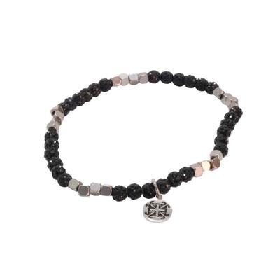 Rustic Cuff Women's Black Roxie Mini Beaded Bracelet