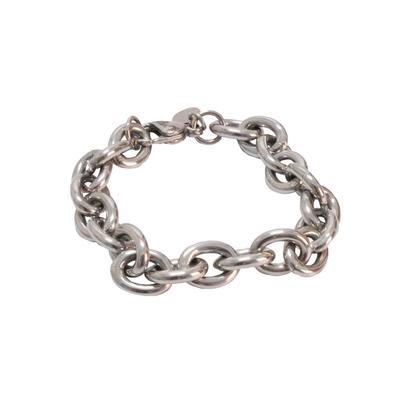 Rustic Cuff Women's Silver Chain Link Bracelet