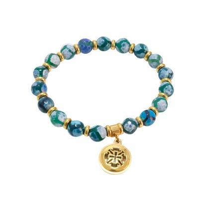 Rustic Cuff Women's Stone Beaded Bracelet