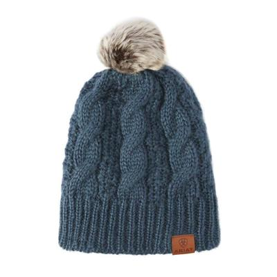 Ariat Women's Teal Cable Knit Beanie