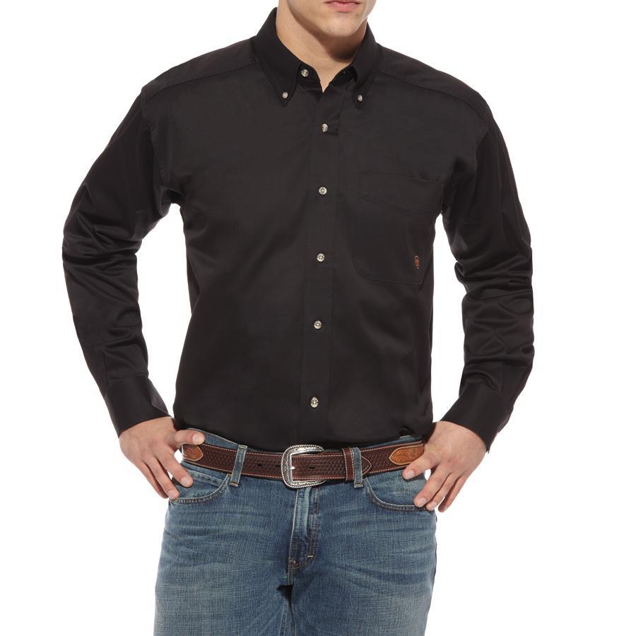 83dfa0d7 Ariat Solid Twill Long Sleeve Mens Button Down Western Shirt