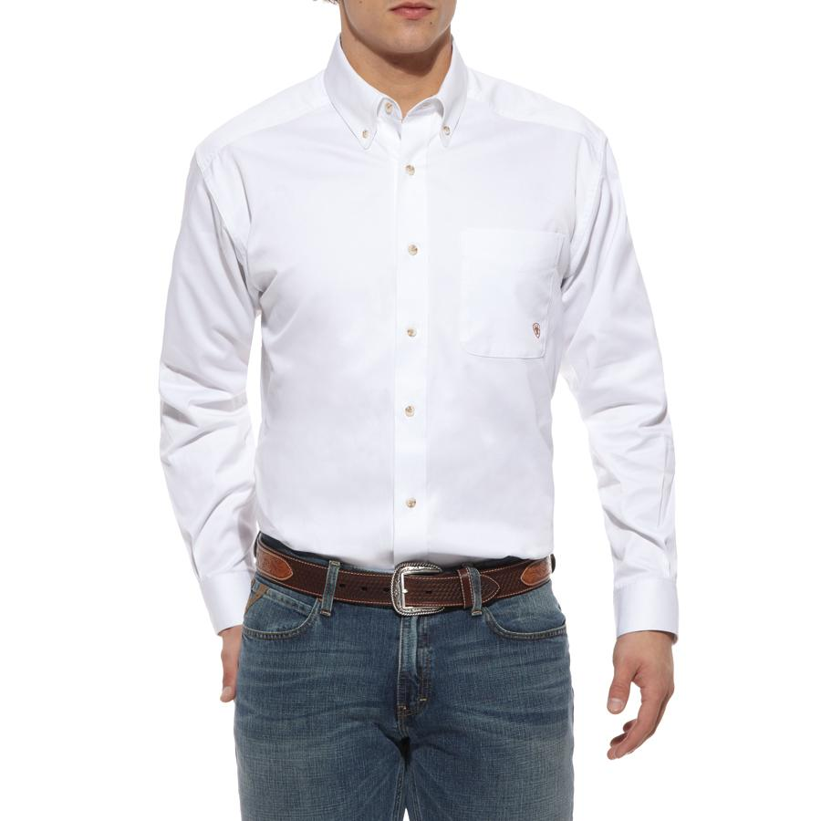 bd5c49bf5743 Ariat Mens Solid Twill Long Sleeve Button Shirt Item   10000503