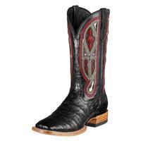Ariat Tapadero Caiman Black Cowboy Boots