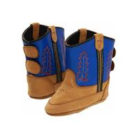 Infant Blue Leather Bootie