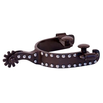 Partrade Antique Brown Youth Spurs with Dot Trim