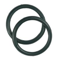 Partrade Rubber Peacock Stirrup Rings