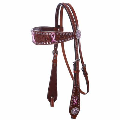 Bar H Equine Passionately Pink Headstall
