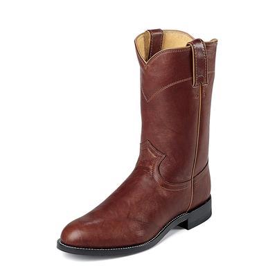 Justin Chestnut Marbled Deerlite Cowboy Boots