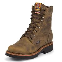 Justin Rugged Tan Gaucho Steel Toe Mens Work Boots
