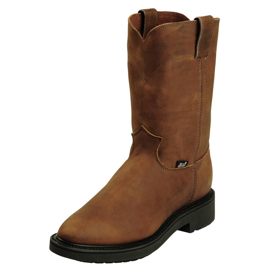 justin aged bark mens work boots d d outfitters